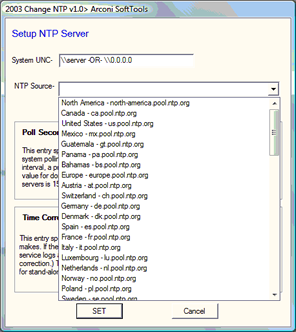 NTP Drop Down